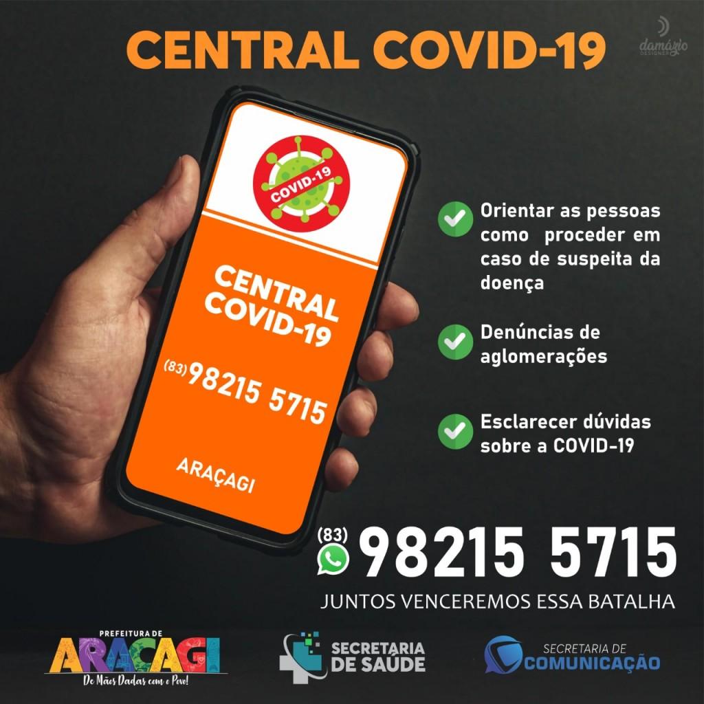 """Secretaria Municipal de Saúde lança o """"Central Covid"""" um canal direto entre população e profissionais de saúde"""